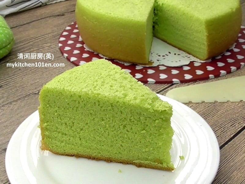 Rice Cooker Version Pandan Sponge Cake | MyKitchen101en com