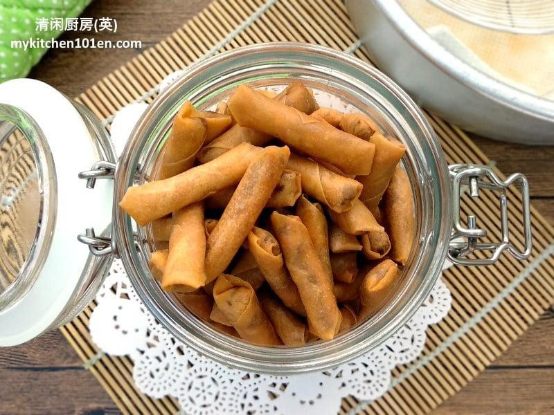 Crispy Sambal Dried Prawn Spring Rolls