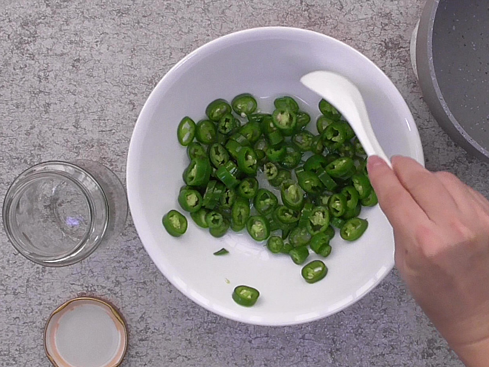 Pickled Green Chilies or Pickled Jalapeno