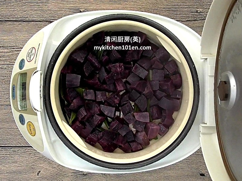 How to Make Purple Sweet Potato Filling for Mooncake