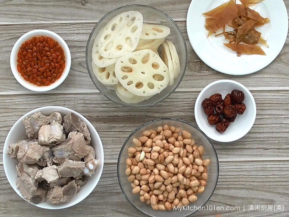 Lotus Root Peanut Pork Rib Soup