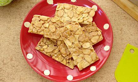 Almond Florentine Brittle – 2 Ingredients, Just Mix and Bake Till Crisp