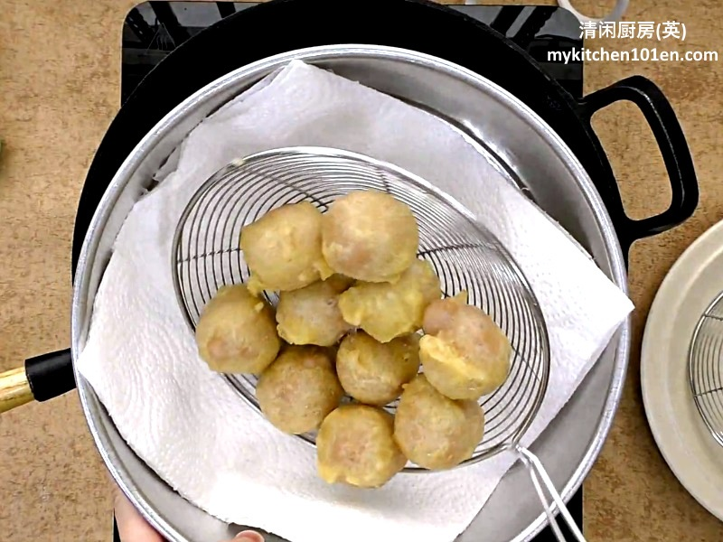 Deep-Fried Nian Gao Taro Balls